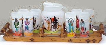 Oklahoma Indians Glass set