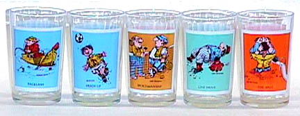 Gary Patterson Thought Factory Pepsi Glasses